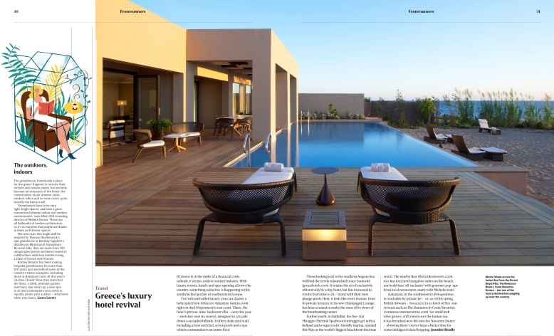 Greece's luxury hotel revival (Robb Report, Summer 2016)